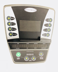 MATRIX FITNESS E5xc U5x R5x ELLIPTICAL BIKE CONTROL CONSOLE DISPLAY PANEL - fitnesspartsrepair