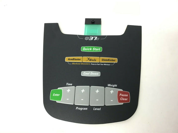 Octane Fitness Q37c 10-14 Elliptical Display Console Keypad Overlay 104319-001 - fitnesspartsrepair