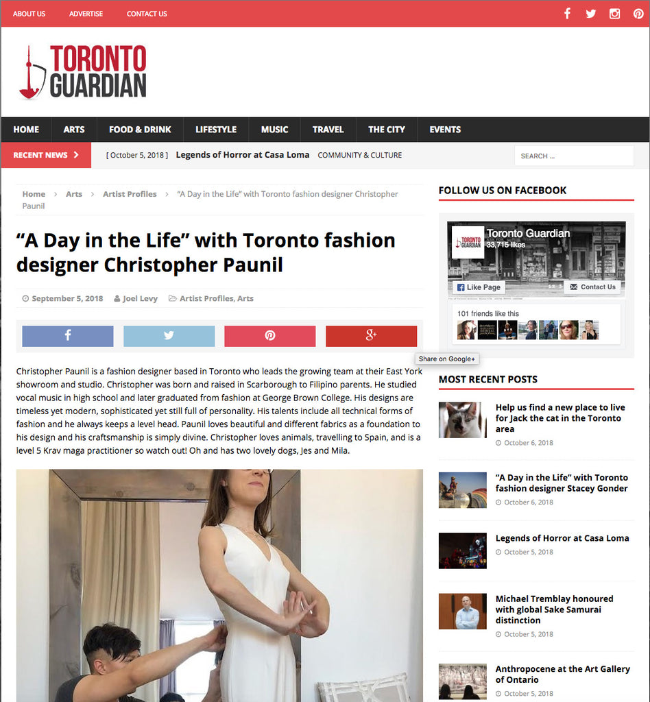 A Day In The Life With Toronto Fashion Designer Christopher Paunil Christopher Paunil