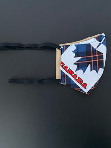 Blue Tartan Maple Leaf
