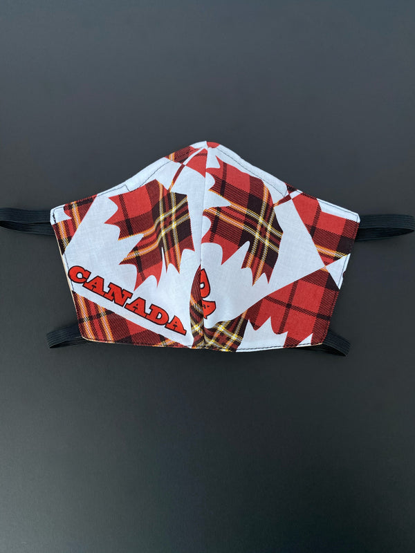 Red Tartan Maple Leaf