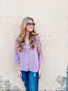 Open Up Lace Detail Tunic