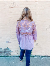 Load image into Gallery viewer, Open Up Lace Detail Tunic