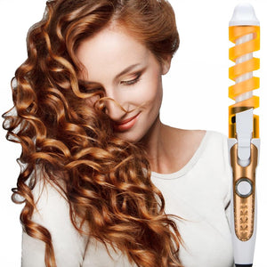 2019 Professional Hair Curler Magic Spiral Curling Iron Fast Heating Curling Wand Electric Hair Styler Pro Styling Tool