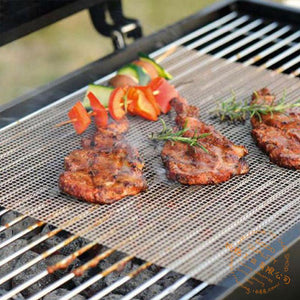 Non-stick Grid Shape BBQ Mat for Outdoor Grill 【3PCS】