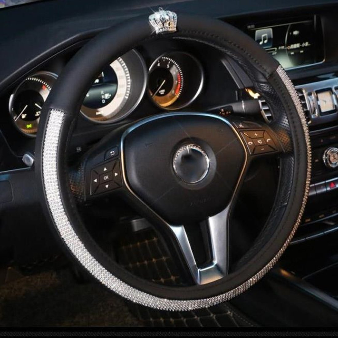 Fashion Car Steering Wheel Cover Bling Rhinestone Car Steering Wheel Cover