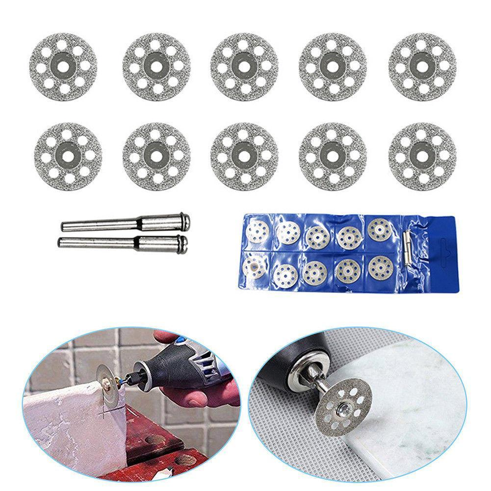 10 Pcs Electroplated Rotary Cutting Discs