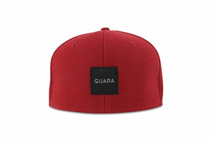6 Panel Snapback Red