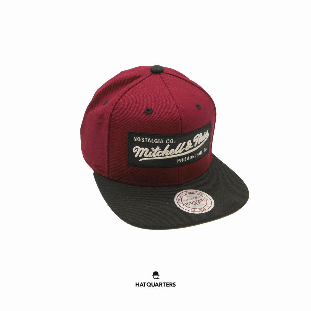 2 Tone Label Burgundy Black