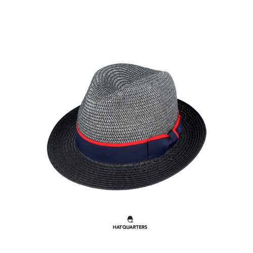 Maz Summer Hat Fedora Crushable Contrast Brim.