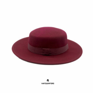 Wide Brim Round Hat Wine