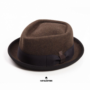 100% Felt Pork Pie Brown Dasmarca London