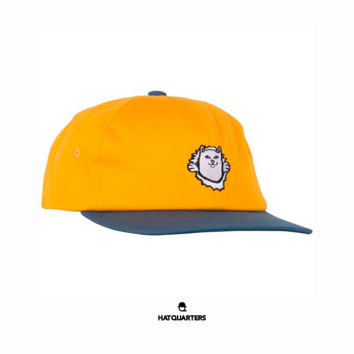 RipnDip Nermaniac Gold 6 Panel Cap