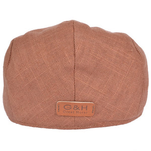 Linen Flat Cap Brown
