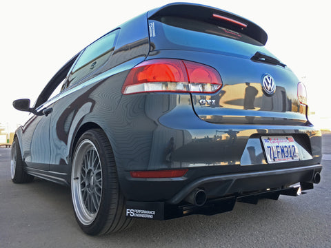 Volkswagen MK6 (2010-2014) Golf GTI  Rear Diffuser V1 - FS Performance Engineering