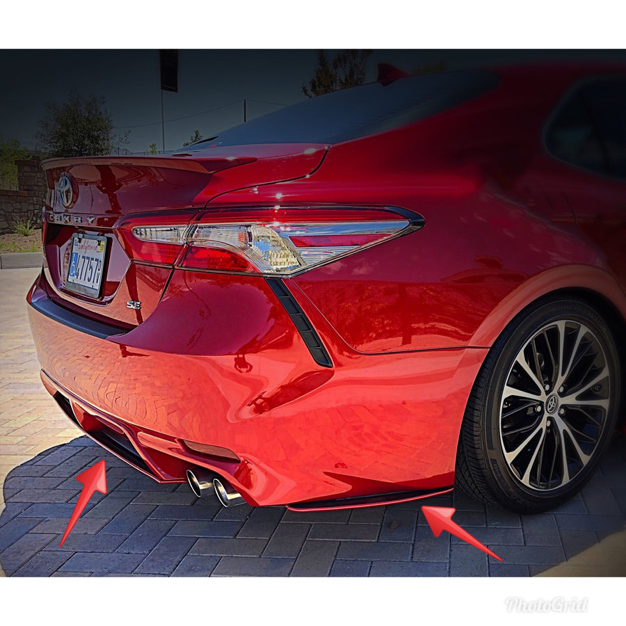 Toyota Camry (2018+) Carbon Fiber Rear Side Spats & Diffuser