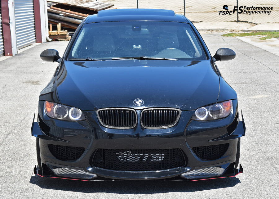 BMW 335i (E92) (2006-2012) Splitter Spats (Winglets) for Amuse Bumper - FS Performance Engineering