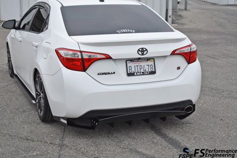 Toyota Corolla 2014-2018 (Gen 11) Chassis Mounted Rear Diffuser V2 - FS Performance Engineering