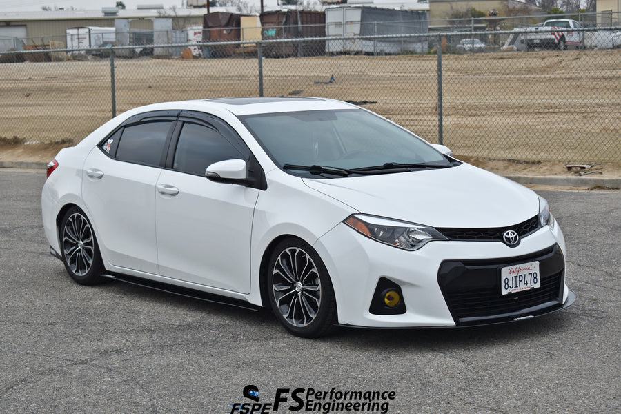 Toyota Corolla 2014-2018 (Gen 11) Chassis Mounted Side Skirt Extensions - FS Performance Engineering
