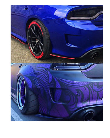 Dodge Charger Scat, Hellcat, SRT, Chrysler 300 (2012+) Carbon Fiber Rear Side Spats