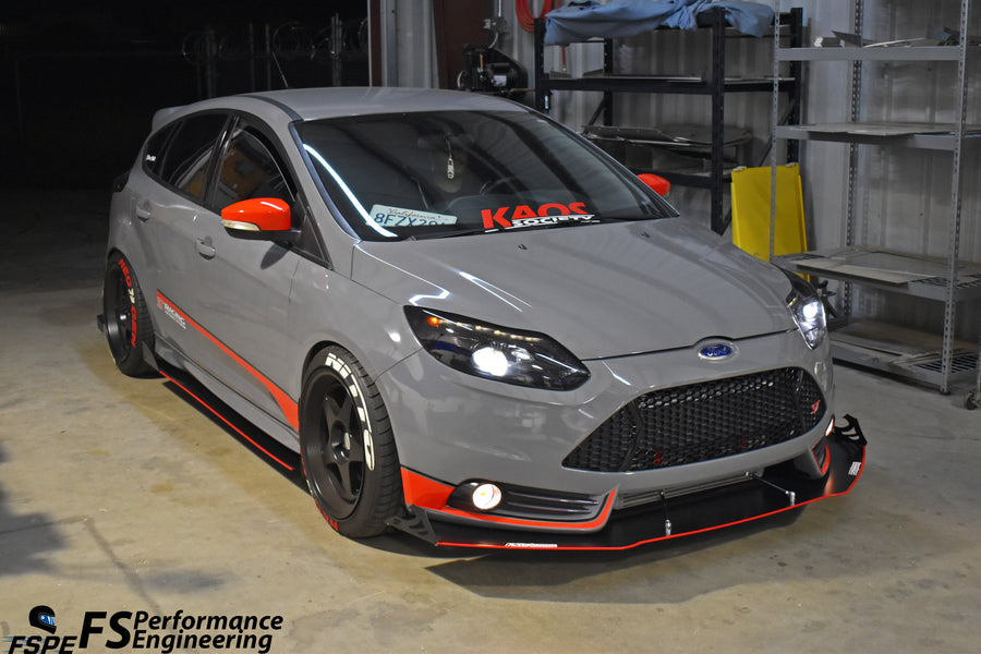 Ford Focus ST 2011-2014 (Pre-Facelift) Splitter V2 - AGGRESSIVE - FS Performance Engineering