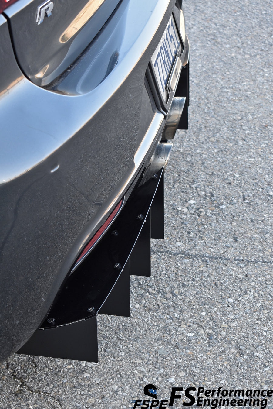 Volkswagen MK6 Golf R (2012-13) Rear Diffuser V1 - FS Performance Engineering
