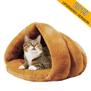 2019 update!!! Winter Soft Velvet Cat Bed