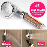 3 Mode High Pressure Shower Bath Head