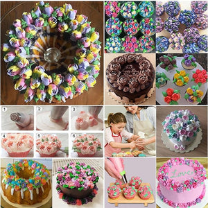 Russian Tulip Icing Piping Nozzles - 24pcs Set