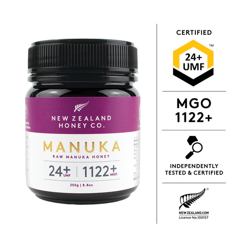 Manuka, honey, mgo, 1122, umf, newzealand, nz, nzhc, tested, certified, independent