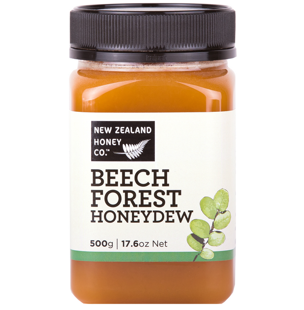 Jar of Beech Forest Honeydew Honey 500g from New Zealand Honey Co