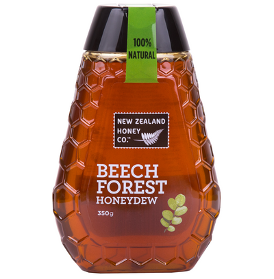 Jar of Beech Forest Honey 350g from New Zealand Honey Co