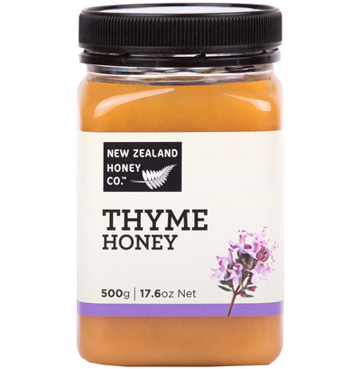 Jar of Thyme Honey 500g from New Zealand Honey Co