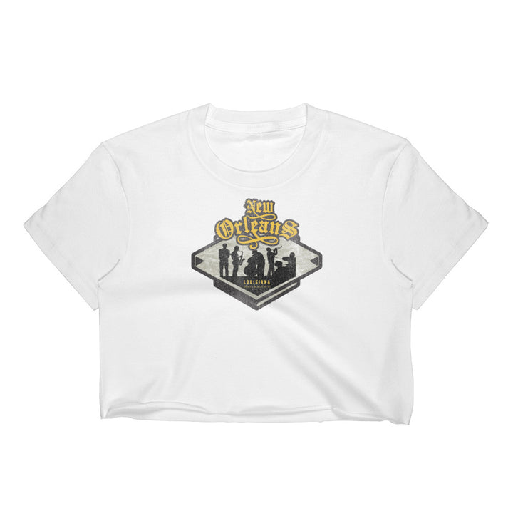 New Orleans, Louisiana Women's Crop Top