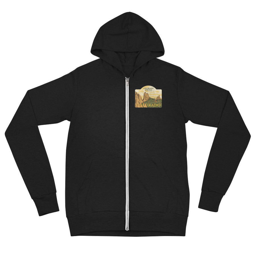 Colorado Springs, Colorado Unisex Zip Hoodie