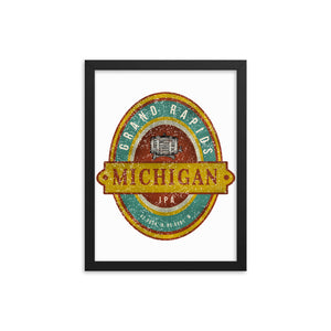 Grand Rapids, Michigan Framed Poster