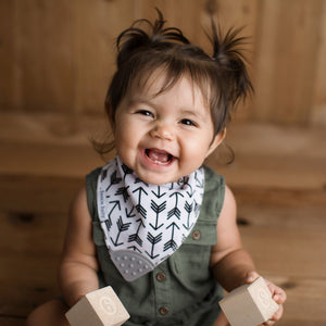 Bazzlebaby bandana drool bib with teether.