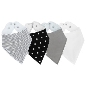 Touch of Grey Bandana Bib 4-Pack