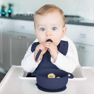 Neat in Navy Anchor Feeding Set