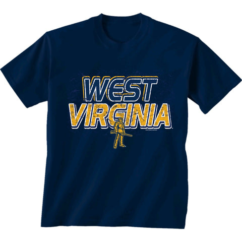 West Virginia University Bella Canvas Navy T-Shirt