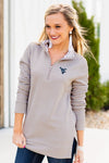 WOMEN'S OVER AND OUT QUILTED AND CUFFED QUARTER ZIP
