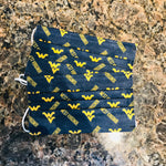 WVU Logo Disposable 6 Pack Face Covers