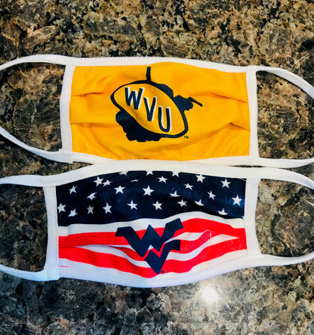 WVU Stars and Stripes Face Mask