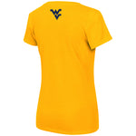 COLOSSEUM WOMEN'S GOLD V-NECK TEE
