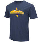 MEN'S COLOSSEUM CUE COUNTRY ROADS MOUNTAIN TRI-BLEND NAVY TEE