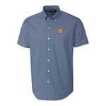 CUTTER & BUCK STRIVE WVU DIT-DAT PRINT SHORT SLEEVE