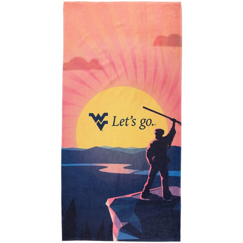 "WEST VIRGINIA BEACH TOWEL 30"" X 60"""