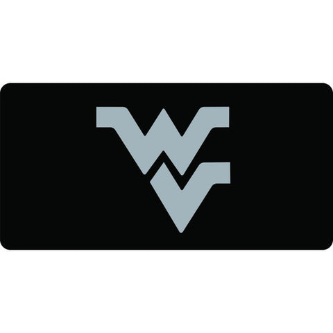 FLYING WV LICENSE PLATE BLACK W/ CHROME WV