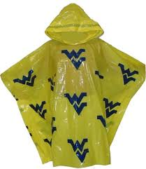 RAIN PONCHO GOLD WITH NAVY WV