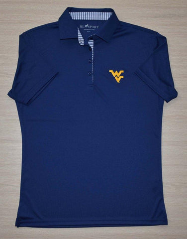 WOMENS HORN LEGEND PERFORMANCE LUXURY NAVY POLO